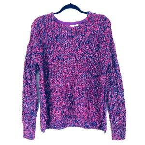 Gap Marled Chunky Sweater Purple Pink New Size S
